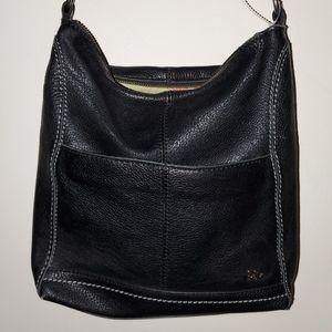 The sak black leather square crossbody